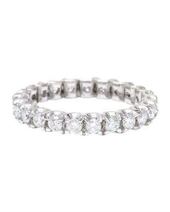 1.20 Carat Natural Diamond 14K Solid White Gold Ring