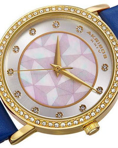 Akribos XXIV AK791BU Brand New Japan Quartz Watch with 0ctw of Precious Stones - crystal and mother of pearl