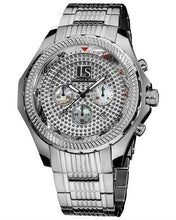 Load image into Gallery viewer, Joshua & Sons JS-43-SS Brand New Quartz date Watch with 0ctw mother of pearl