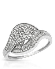 Load image into Gallery viewer, Lundstrom Brand New Ring with 0.3ctw diamond 10K White gold