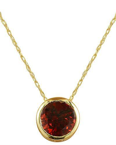 1.50 Carat Garnet 14K Yellow Gold Necklace