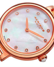 Load image into Gallery viewer, Akribos XXIV AK877RG Brand New Japan Quartz Watch with 0.06ctw of Precious Stones - diamond and mother of pearl
