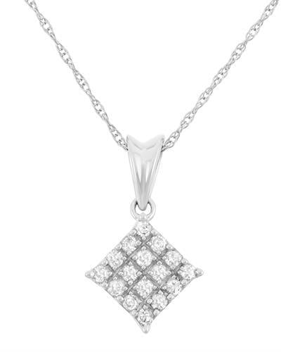 Brand New Necklace with 0.2ctw diamond 10K White gold