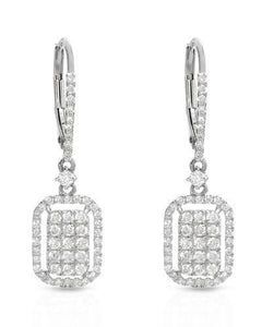 Brand New Earring with 0.75ctw diamond 14K White gold