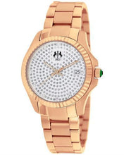 Load image into Gallery viewer, Jivago JV3213 Jolie Brand New Quartz date Watch with 0.1ctw of Precious Stones - crystal and diamond