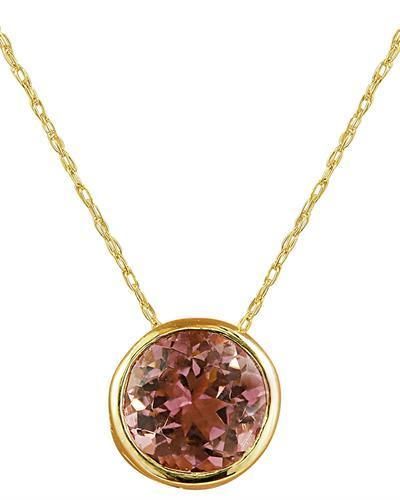 1.50 Carat Tourmaline 14K Yellow Gold Necklace