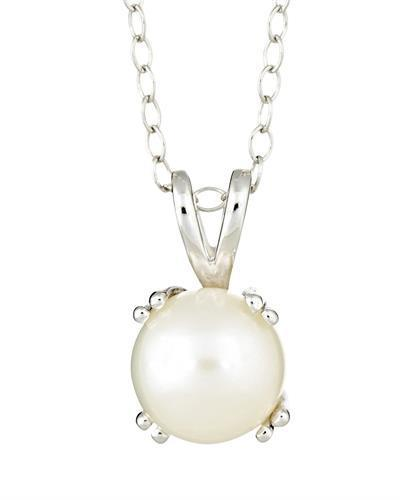 Brand New Necklace with 0ctw pearl 925 Silver sterling silver