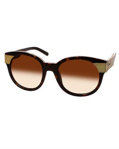 AQS BEX2001 Brown Bex Brand New Sunglasses  Yellow metal and  Brown plastic