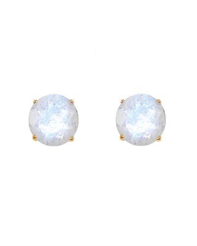 Brand New Earring with 1.1ctw moonstone 14K Yellow gold