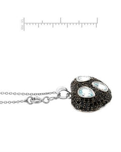 Brand New Necklace with 3.39ctw of Precious Stones - spinel and topaz 925 Silver sterling silver