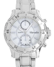 Load image into Gallery viewer, Varsales V5116-1 Brand New Japan Quartz Watch with 0ctw of Precious Stones - crystal and mother of pearl