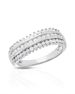 Brand New Ring with 0.75ctw diamond 10K White gold