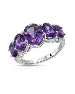 Brand New Ring with 4.26ctw amethyst 925 Silver sterling silver