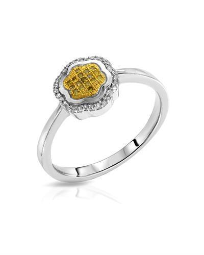 Lundstrom Brand New Ring with 0.11ctw of Precious Stones - diamond and diamond 10K Two tone gold