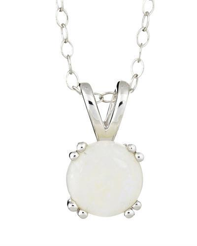 Brand New Necklace with 0.8ctw opal 925 Silver sterling silver