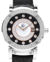 Load image into Gallery viewer, Techno Com by KC WA004740 Brand New Quartz date Watch with 0.35ctw of Precious Stones - crystal, diamond, and mother of pearl