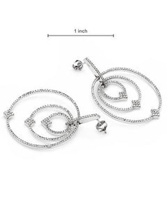 Lundstrom Brand New Earring with 1.4ctw diamond 10K White gold