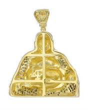Load image into Gallery viewer, Brand New Pendant with 0.57ctw diamond 14K/925 Yellow Gold plated Silver