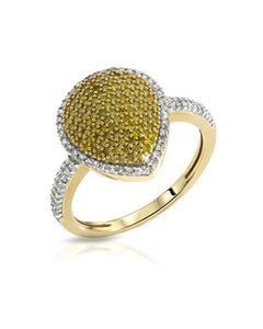 Lundstrom Brand New Ring with 0.54ctw of Precious Stones - diamond and diamond 14K Yellow gold