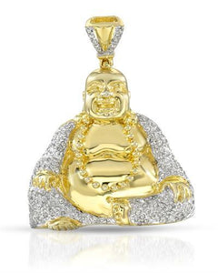 Brand New Pendant with 0.57ctw diamond 14K/925 Yellow Gold plated Silver