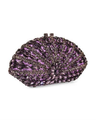 Dolli Caesar Brand New Clutch with 0ctw crystal  Gunmetal base metal