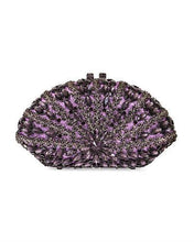 Load image into Gallery viewer, Dolli Caesar Brand New Clutch with 0ctw crystal  Gunmetal base metal