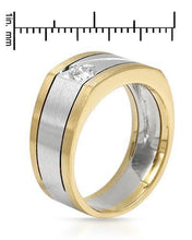 Load image into Gallery viewer, Brand New Ring with 0.22ctw diamond 14K Two tone gold