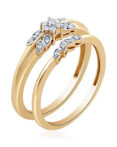 Brand New Ring with 0.1ctw diamond 10K Yellow gold