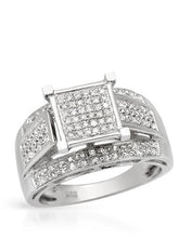 Load image into Gallery viewer, Lundstrom Brand New Ring with 0.35ctw diamond 925 Silver sterling silver