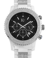 Load image into Gallery viewer, KC Brand New Japan Quartz date Watch with 3ctw of Precious Stones - crystal and diamond
