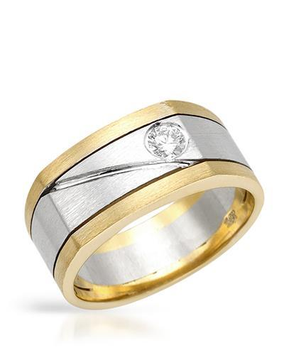 Brand New Ring with 0.22ctw diamond 14K Two tone gold
