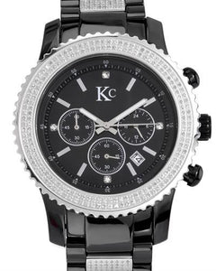 KC Brand New Japan Quartz date Watch with 3ctw of Precious Stones - crystal and diamond