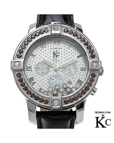 Techno Com WKHL Brand New Quartz date Watch with 3.25ctw of Precious Stones - crystal, diamond, diamond, and mother of pearl