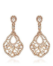 Load image into Gallery viewer, Brand New Earring with 0.9ctw diamond 14K Rose gold