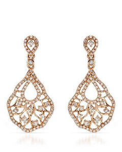Brand New Earring with 0.9ctw diamond 14K Rose gold