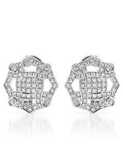 Brand New Earring with 0.71ctw diamond 14K White gold
