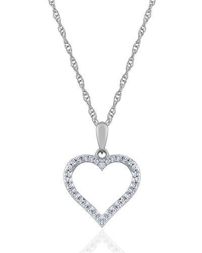 Brand New Necklace with 0.1ctw diamond 10K White gold