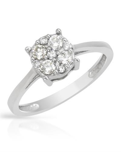 Brand New Ring with 0.31ctw diamond 14K White gold