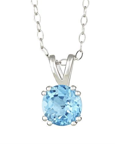 Brand New Necklace with 1.55ctw topaz 925 Silver sterling silver