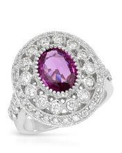 Load image into Gallery viewer, Brand New Ring with 4.17ctw of Precious Stones - diamond and sapphire 14K White gold