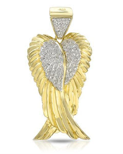 Brand New Pendant with 0.25ctw diamond 14K/925 Yellow Gold plated Silver