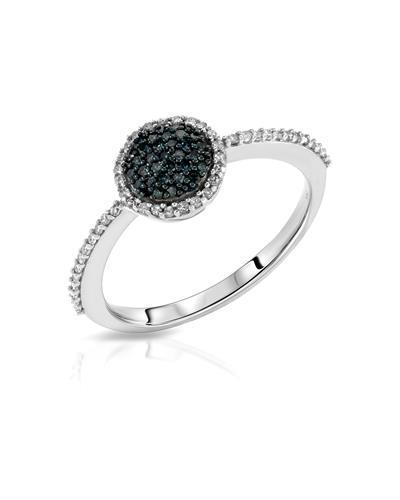 Lundstrom Brand New Ring with 0.24ctw of Precious Stones - diamond and diamond 14K White gold