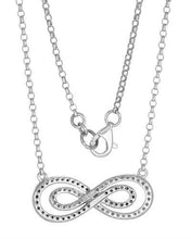 Load image into Gallery viewer, Brand New Necklace with 0.4ctw of Precious Stones - diamond and diamond 10K White gold