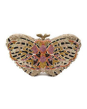 Load image into Gallery viewer, LuxMob Butterfly Brand New Clutch with 0ctw crystal  Yellow base metal