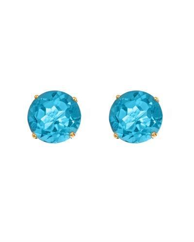 Brand New Earring with 1.12ctw topaz 14K Yellow gold