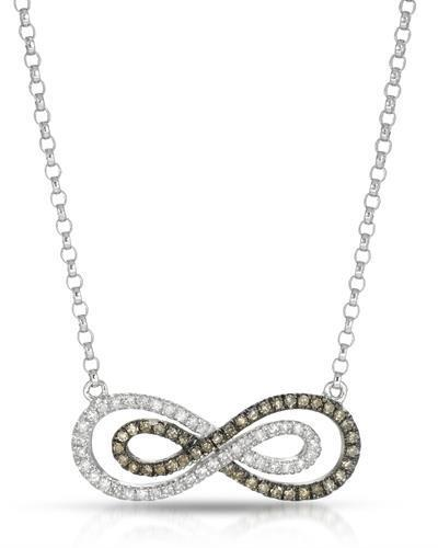 Brand New Necklace with 0.4ctw of Precious Stones - diamond and diamond 10K White gold
