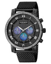 Load image into Gallery viewer, Akribos XXIV AK713BK Brand New Japan Quartz date Watch with 0.06ctw diamond