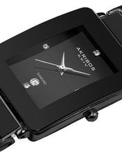 Load image into Gallery viewer, Akribos XXIV AK521BLK Brand New Japan Quartz date Watch with 0.2ctw diamond
