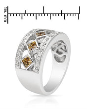 Load image into Gallery viewer, Brand New Ring with 0.65ctw of Precious Stones - diamond and sapphire 14K White gold