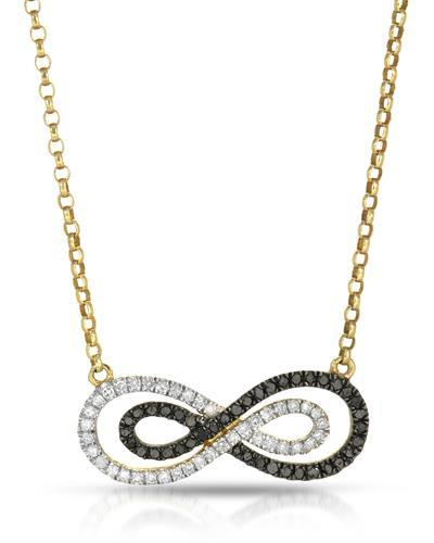 Brand New Necklace with 0.36ctw of Precious Stones - diamond and diamond 10K Yellow gold